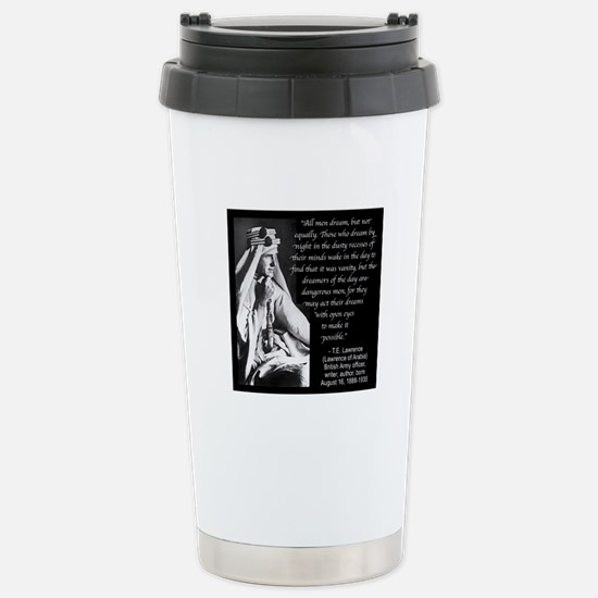 Lawrence Dream Quote Stainless Steel Travel Mug