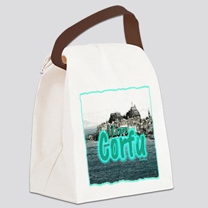 I Love Corfu Canvas Lunch Bag
