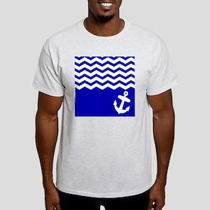 Navy Blue chevron anchor Light T-Shirt