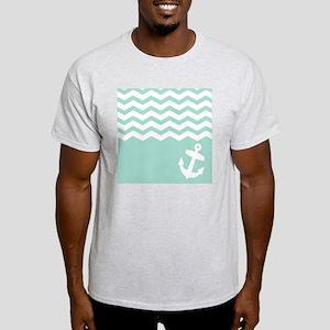 Mint green anchor and chevron Light T-Shirt