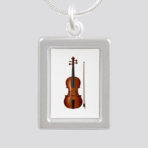 violin and bow Necklaces