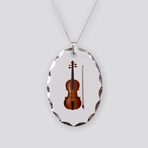 violin and bow Necklace