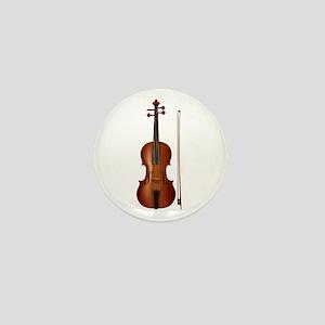 violin and bow Mini Button
