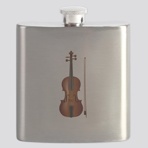 violin and bow Flask