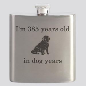 55 birthday dog years lab Flask