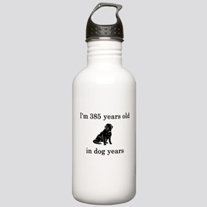 55 birthday dog years lab Water Bottle