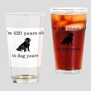 60 birthday dog years lab Drinking Glass