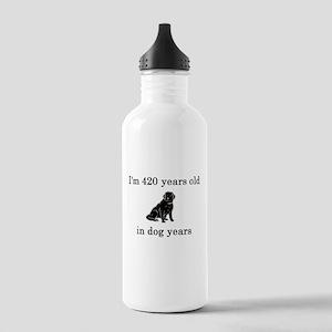 60 birthday dog years lab Water Bottle