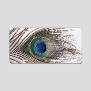 beautiful peacock feather Aluminum License Plate
