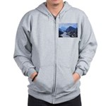 Mysterious Terraced Mountains Zip Hoodie