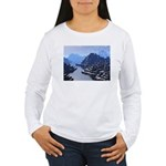 Mysterious Terraced Mountains Long Sleeve T-Shirt