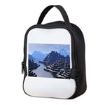 Mysterious Terraced Mountains Neoprene Lunch Bag