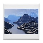 Mysterious Terraced Mountains Tile Coaster