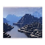 Mysterious Terraced Mountains Throw Blanket