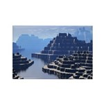 Mysterious Terraced Mountains Rectangle Magnet (10