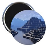 Mysterious Terraced Mountains Magnet