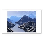 Mysterious Terraced Mountains Sticker