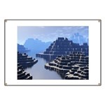 Mysterious Terraced Mountains Banner