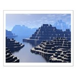 Mysterious Terraced Mountains Posters