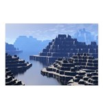 Mysterious Terraced Mountains Postcards (Package o