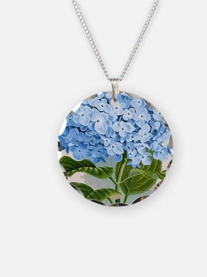Blue hydrangea flowers Necklace