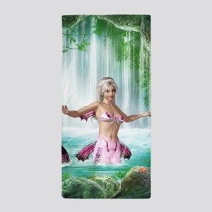 Pink Mermaid Beach Towel