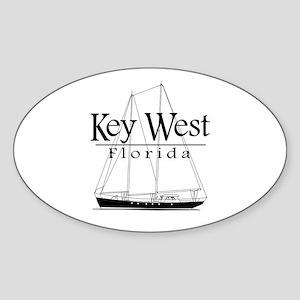 Key West Sailing Black Sticker