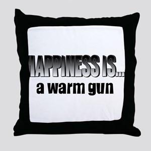 Warm Gun Happiness Throw Pillow