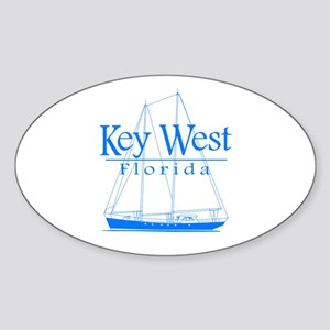 Key West Sailing Blue Sticker