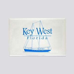 Key West Sailing Blue Rectangle Magnet