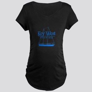 Key West Sailing Blue Maternity T-Shirt