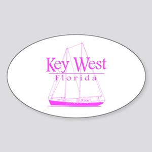 Key West Sailing Pink Sticker