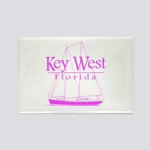 Key West Sailing Pink Rectangle Magnet