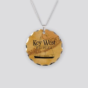 Key West Sailing Map Necklace