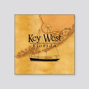 Key West Sailing Map Sticker