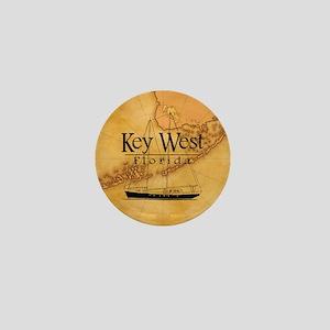 Key West Sailing Map Mini Button