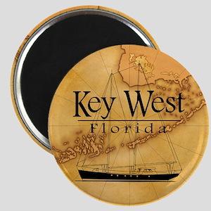 Key West Sailing Map Magnet