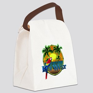 Key West Sunset Canvas Lunch Bag