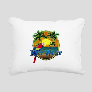 Key West Sunset Rectangular Canvas Pillow