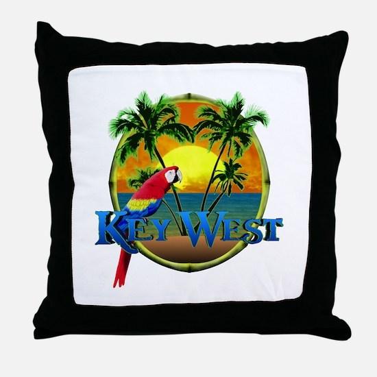 Key West Sunset Throw Pillow