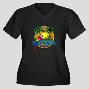 Key West Sunset Plus Size T-Shirt