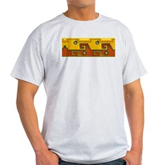 Aztec Design 1 Ash Grey T-Shirt