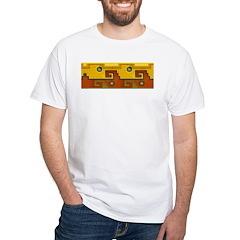 Aztec Design 1 White T-Shirt