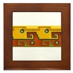Aztec Design 1 Framed Tile