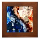 KC & AJ Framed Picture Tile Print
