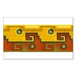 Aztec Design 1 Rectangle Sticker