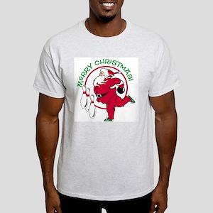 Bowling Santa Ash Grey T-Shirt