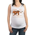 Tiger Facts Maternity Tank Top