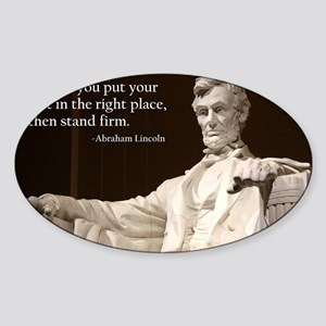 Lincoln Inspirational Quote Sticker (Oval)