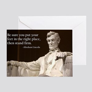 Lincoln Inspirational Quote Greeting Card